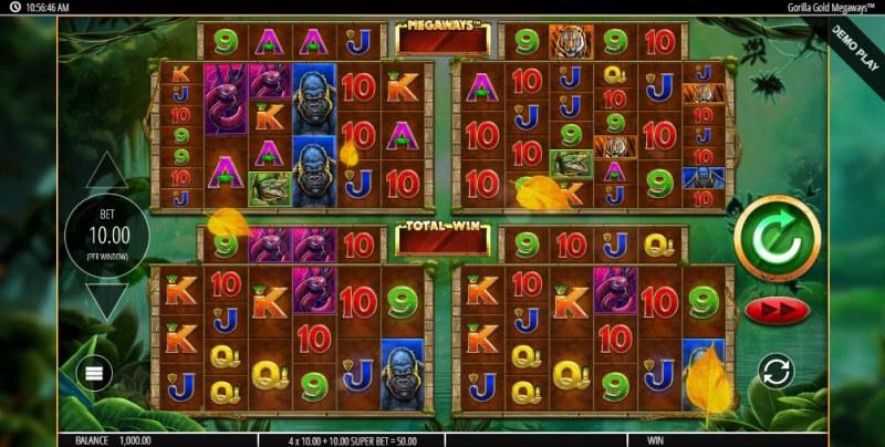 Gorilla Gold Megaways :: Main Game Board