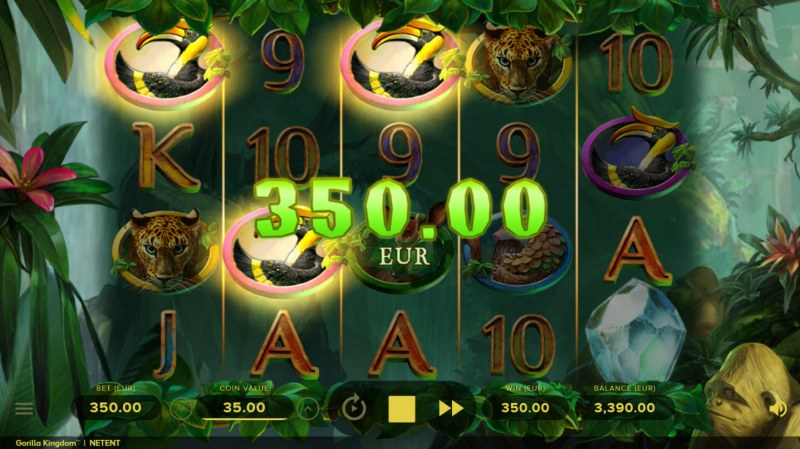 Play slots at Vegas Winner: Vegas Winner featuring the Video Slots Gorilla Kingdom with a maximum payout of $999,950