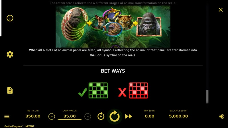 Gorilla Kingdom :: Bet Ways