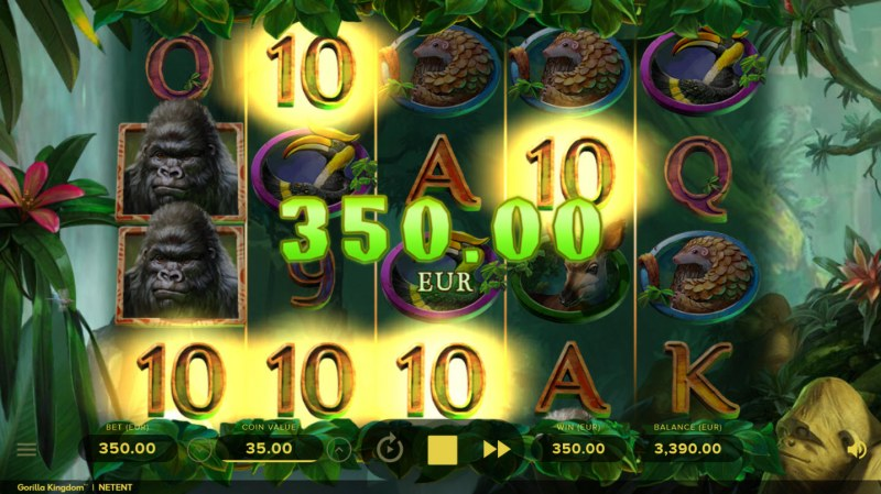 Gorilla Kingdom :: A four of a kind Win