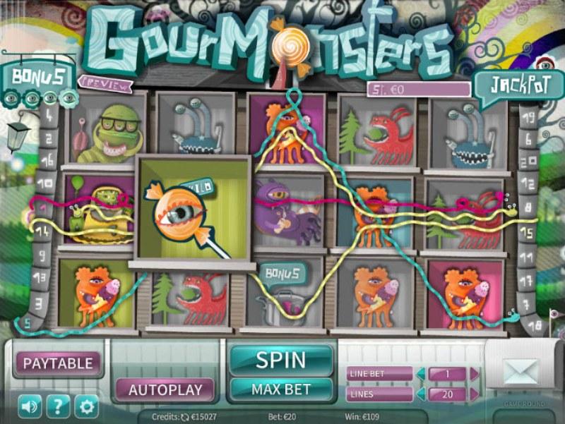 GourMonsters :: Multiple winning paylines
