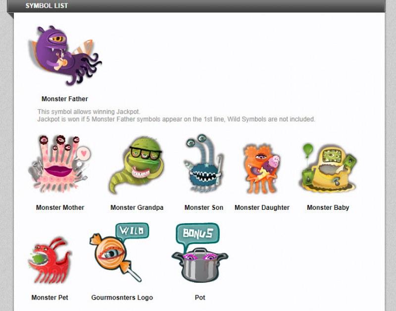 GourMonsters :: Symbol List