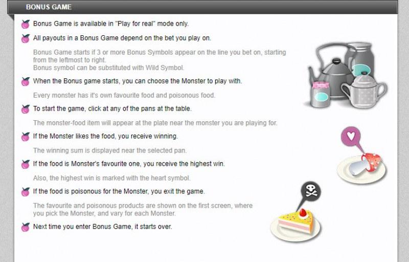 GourMonsters :: Bonus Game Rules
