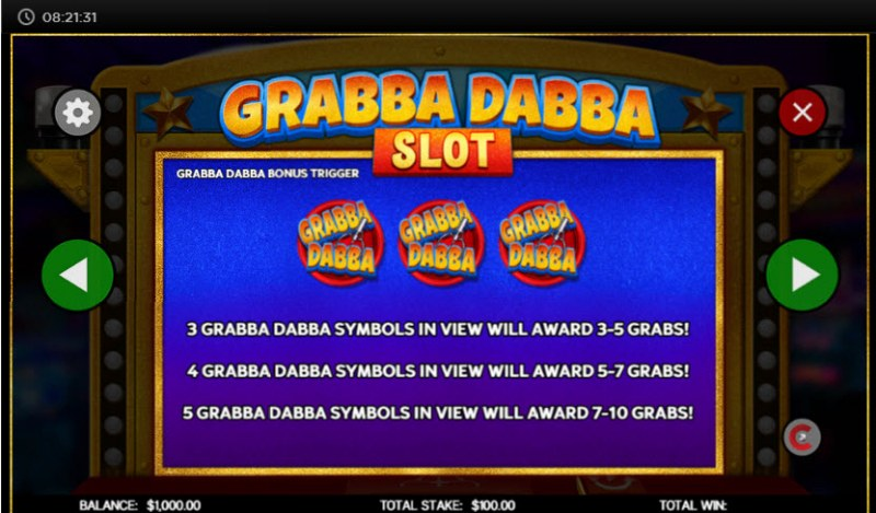 Grabba Dabba Slot :: Scatter Symbol Rules