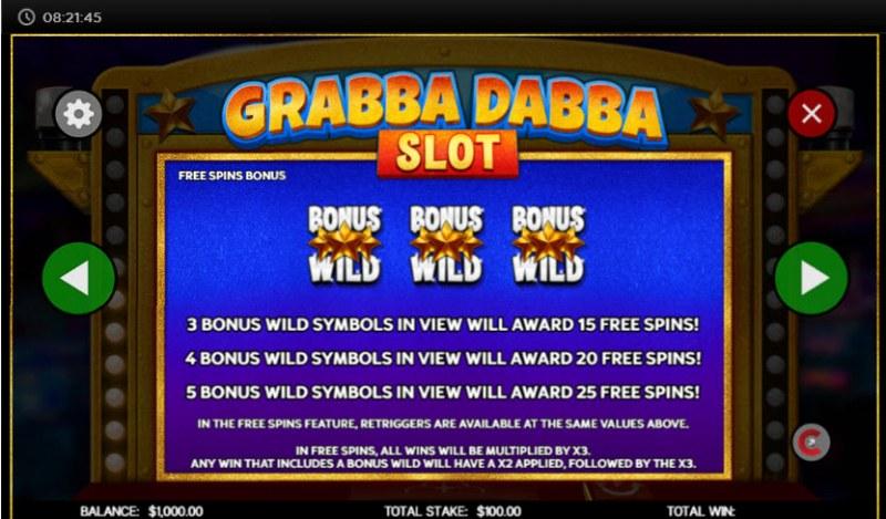 Grabba Dabba Slot :: Free Spins Rules