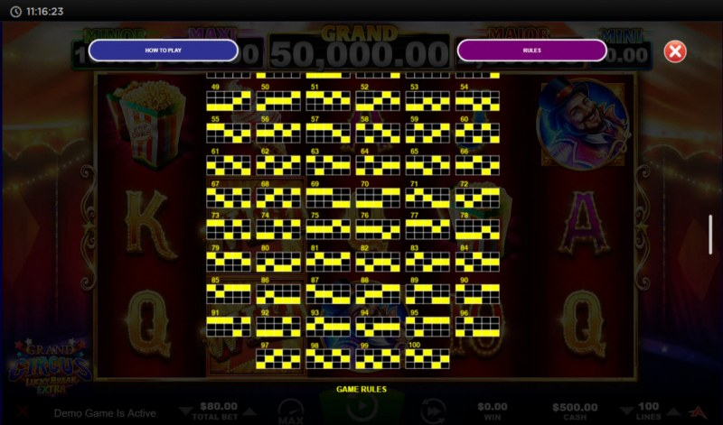 Grand Circus Lucky Break Extra :: Paylines 51-100
