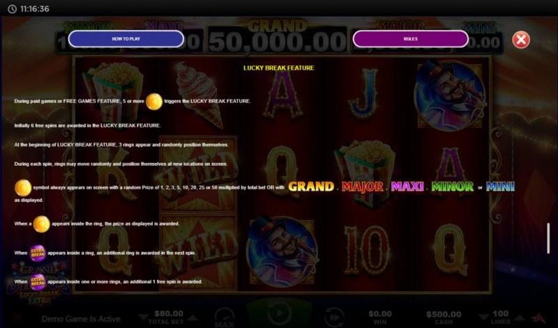 Grand Circus Lucky Break Extra :: Lucky Break Feature