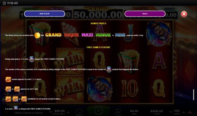 Grand Circus Lucky Break Extra :: Bonus Prizes