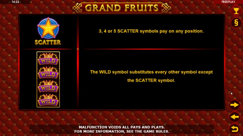 Grand Fruits :: Wild and Scatter Rules