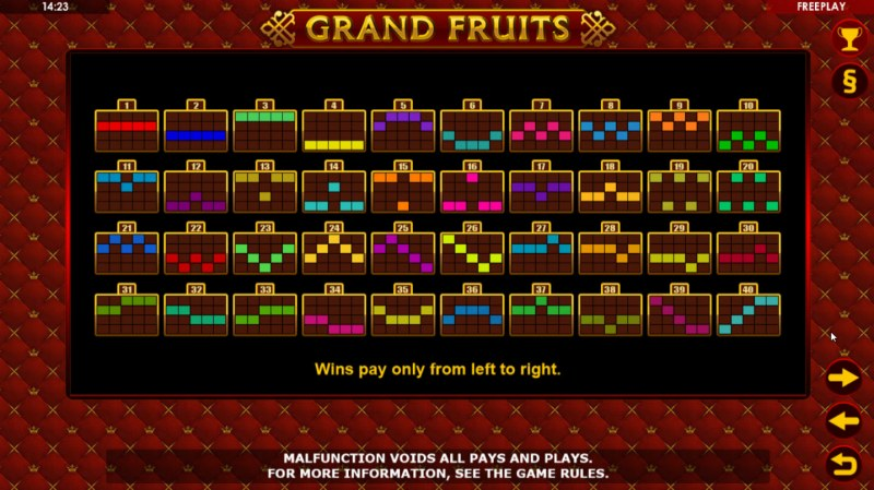 Grand Fruits :: Paylines 1-50