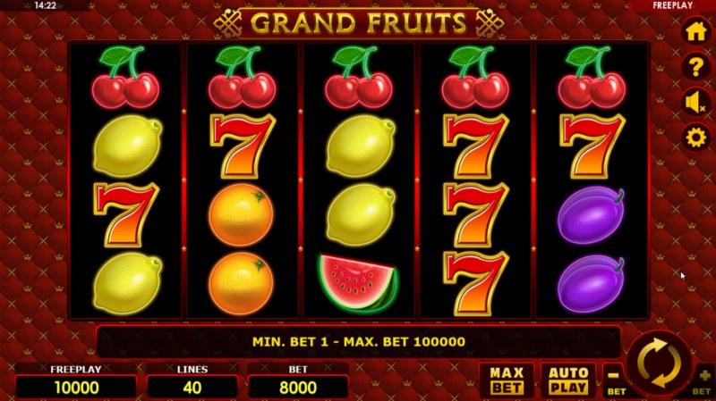 Grand Fruits :: Main Game Board