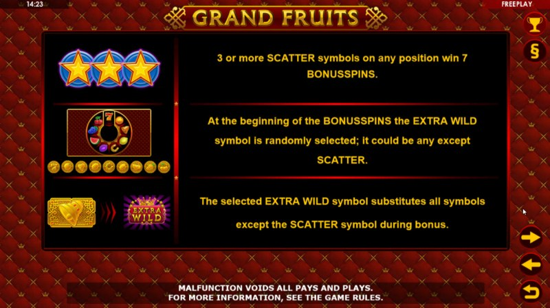 Grand Fruits :: Free Spins Rules