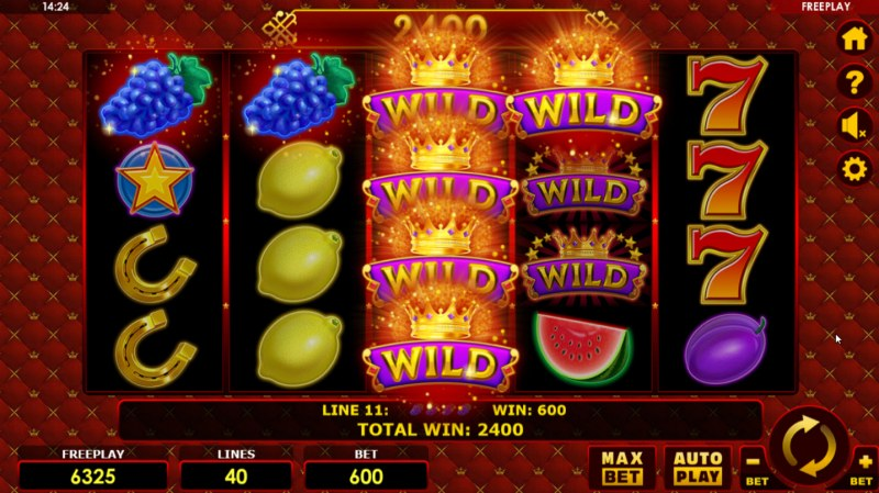 Grand Fruits :: Stacked wilds trigger multiple winning lines