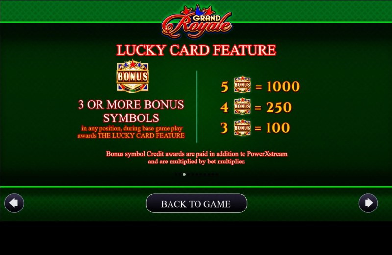 Grand Royale :: Lucky Card Feature