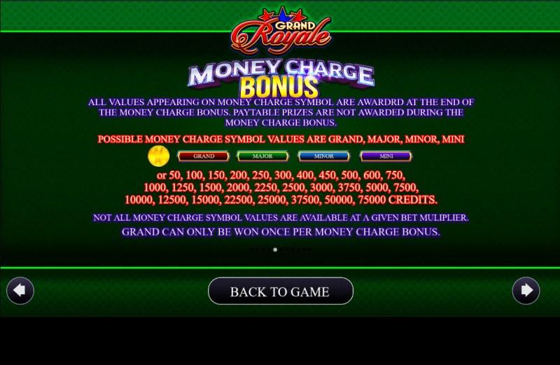 Grand Royale :: Money Charge Bonus