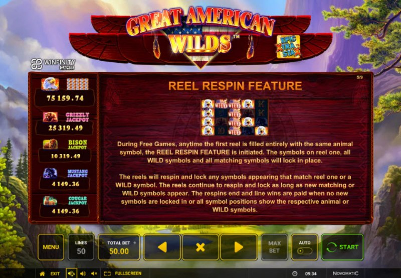 Great American Wilds :: Reel Respin Feature