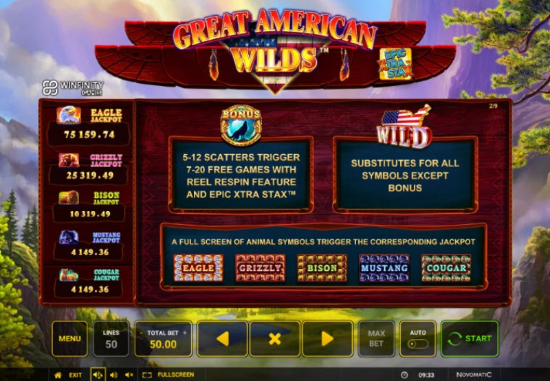 Great American Wilds :: Wild and Scatter Rules