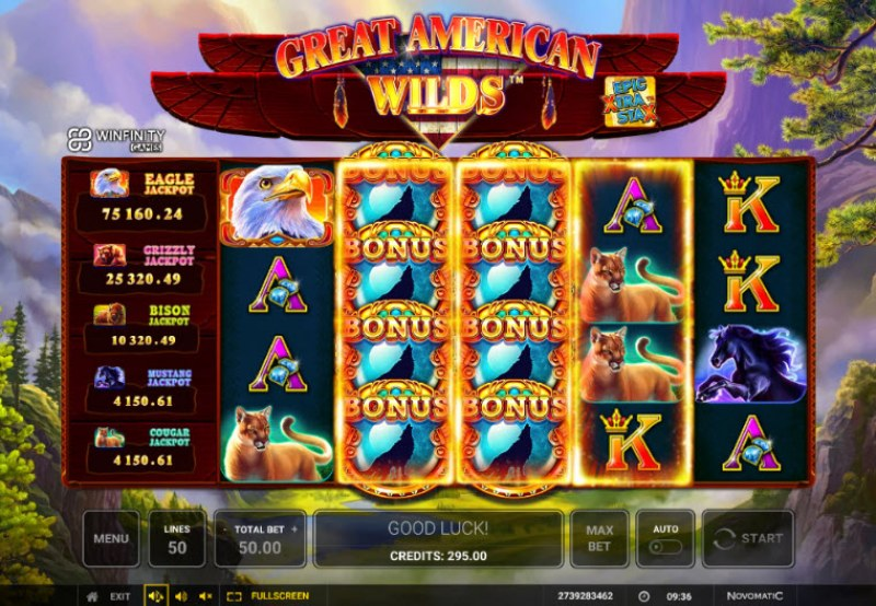 Great American Wilds :: Scatter symbols triggers the free spins feature