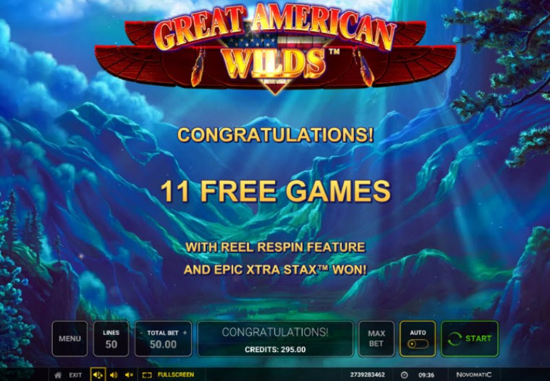 Great American Wilds :: 11 Free Spins Awarded
