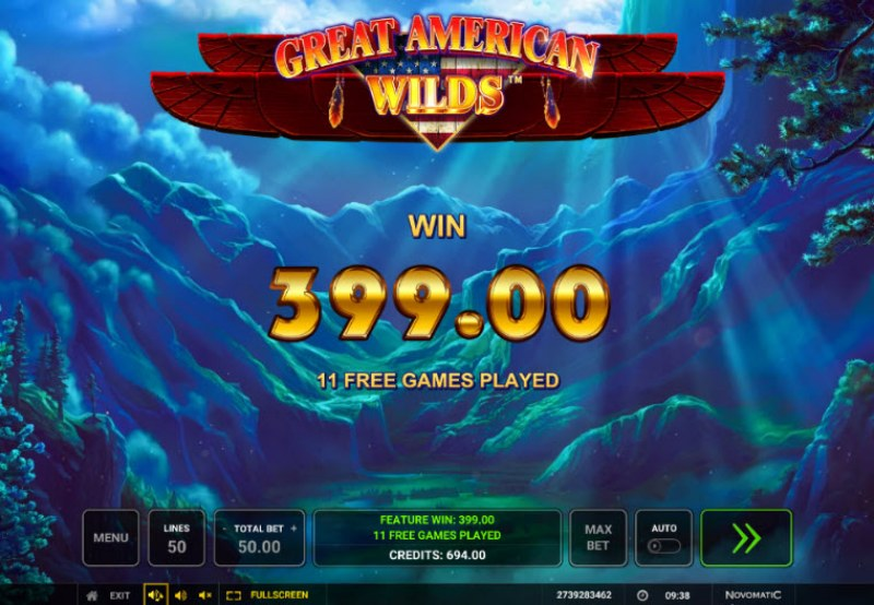 Great American Wilds :: Total free spins payout