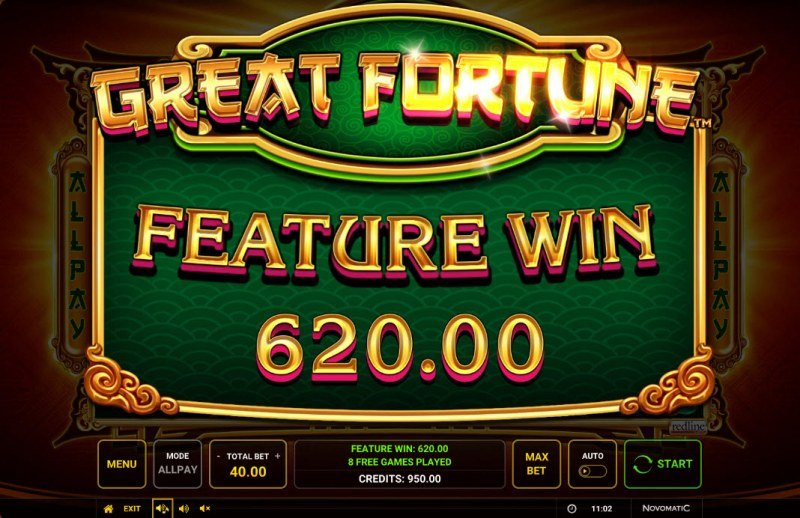 Great Fortune :: Total Free Spins Payout