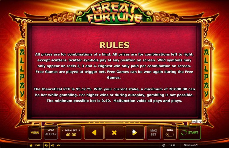 Great Fortune :: General Game Rules