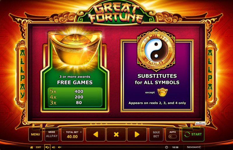 Great Fortune :: Wild and Scatter Rules
