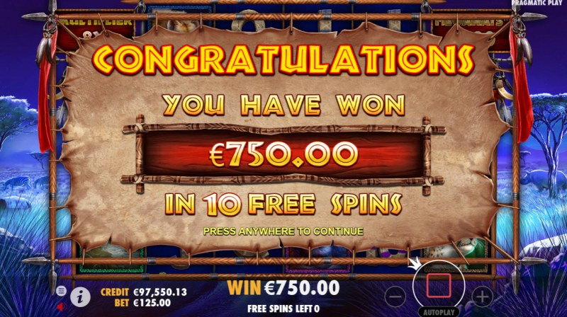 Great Rhino Megaways :: Total free spins payout