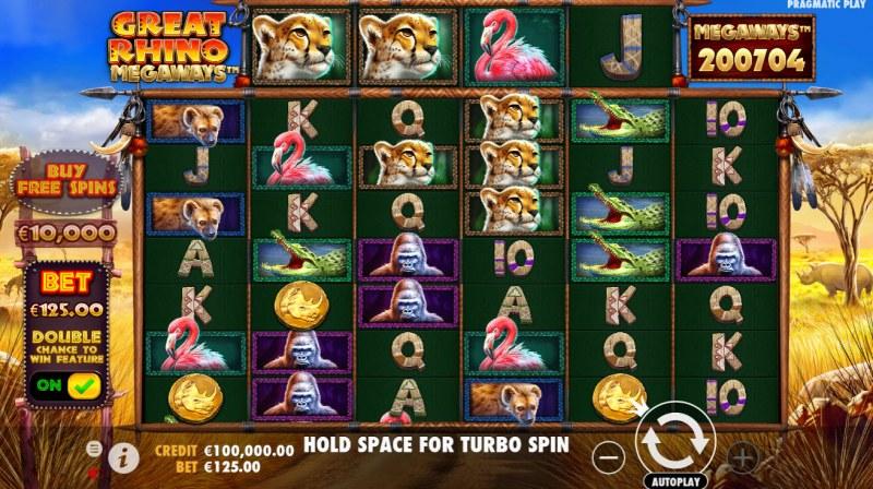 Great Rhino Megaways :: Main Game Board