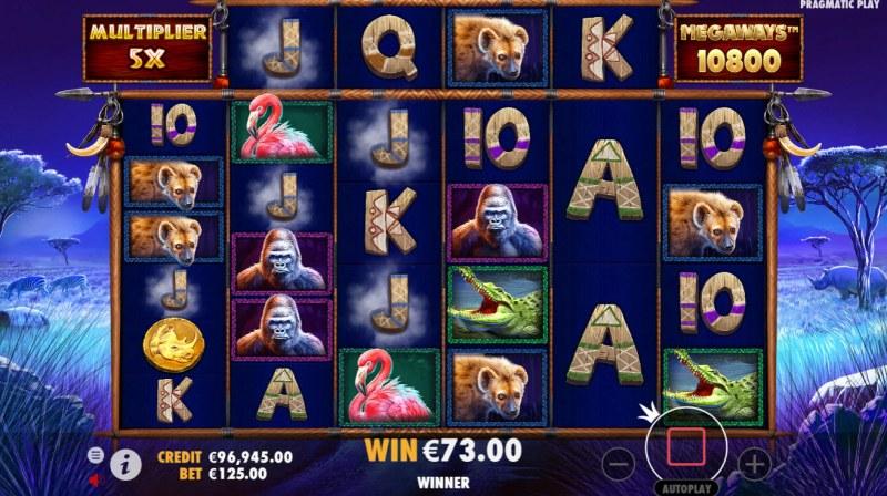 Great Rhino Megaways :: Free Spins Game Board