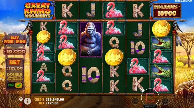 Great Rhino Megaways :: Scatter symbols triggers the free spins feature