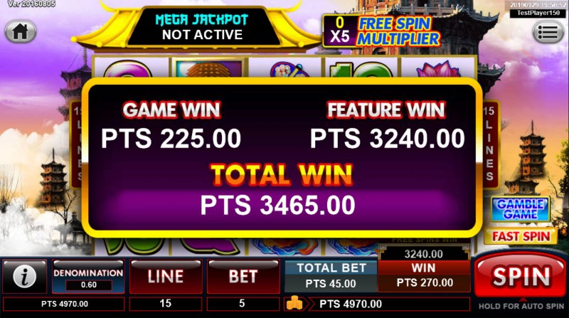Great Stars :: Total free spins payout