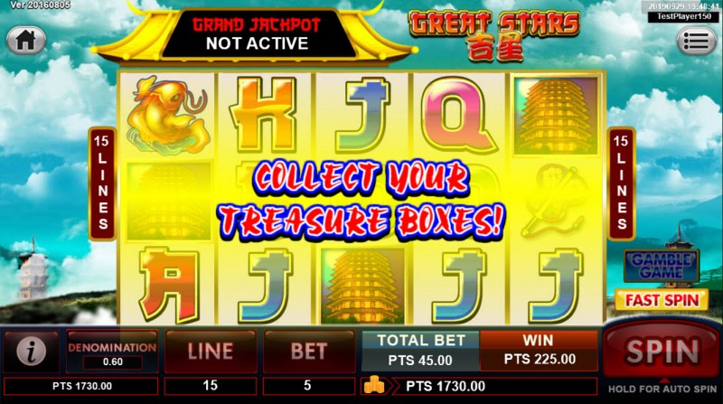 Great Stars :: Free Spins Feature triggered