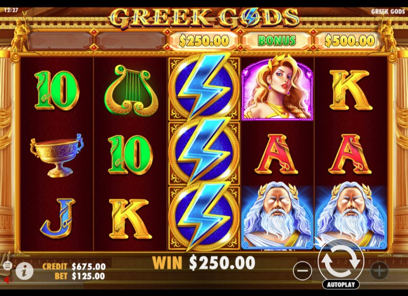 Greek Gods :: Feature triggered