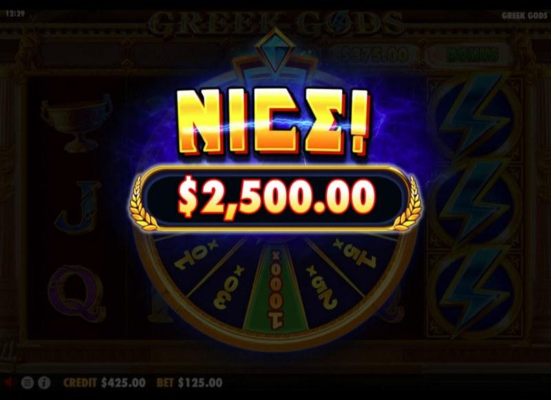 Greek Gods :: Total bonus payout