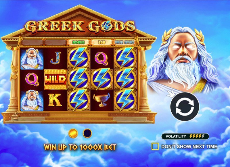 Play slots at Play Jango: Play Jango featuring the Video Slots Greek Gods with a maximum payout of $125,000
