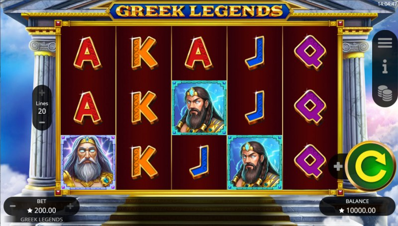 Greek Legends :: Base Game Screen