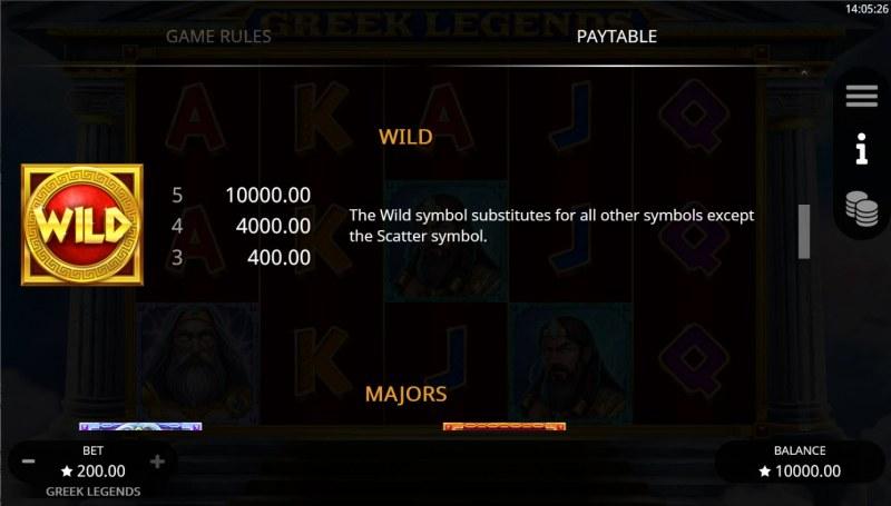 Greek Legends :: Wild Symbol Rules