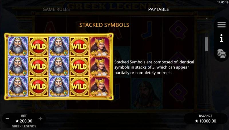 Greek Legends :: Stacked Symbols