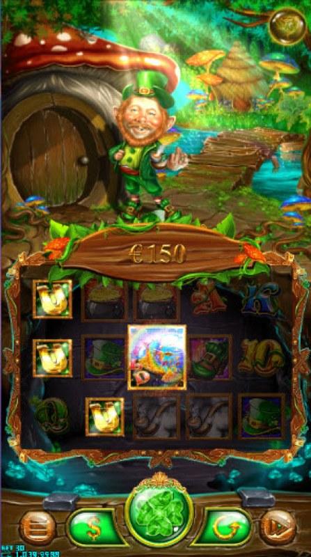 Green Leprechaun :: A three of a kind win