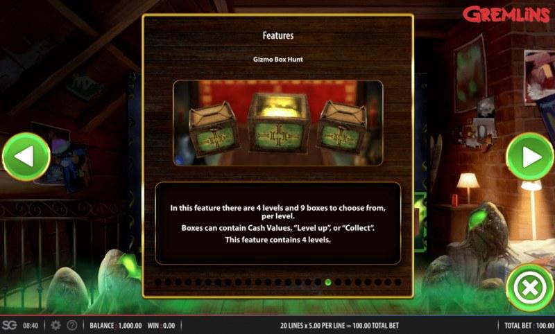 Gremlins :: Gizmo Box Hunt