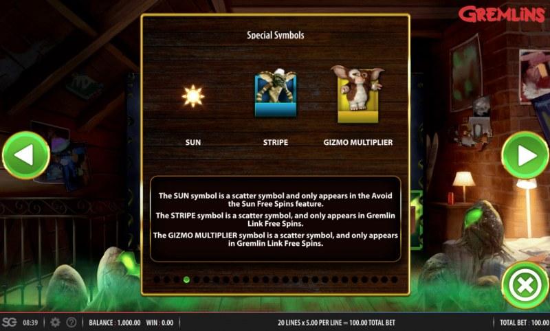 Gremlins :: Special Symbols
