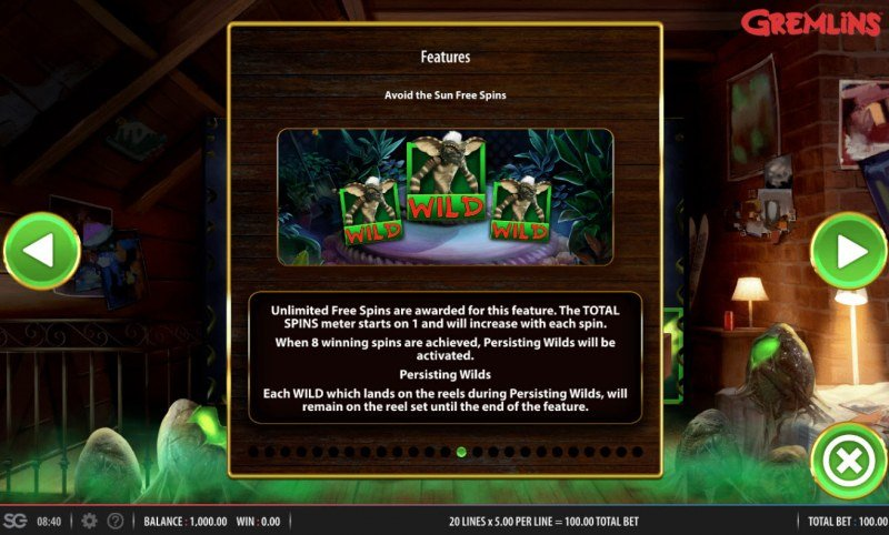 Gremlins :: Avoid the Sun Free Spins