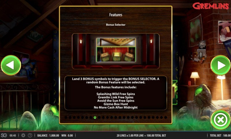 Gremlins :: Bonus Selector
