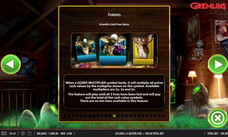 Gremlins :: Free Spins Rules