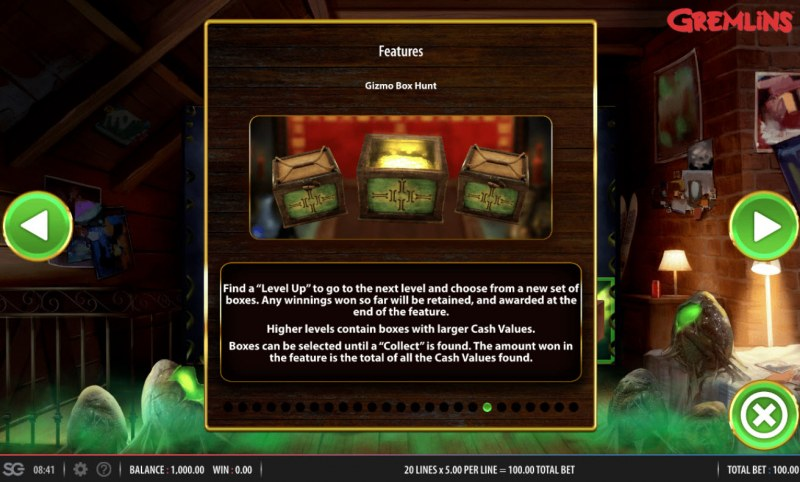 Gremlins :: Bonus Game Rules