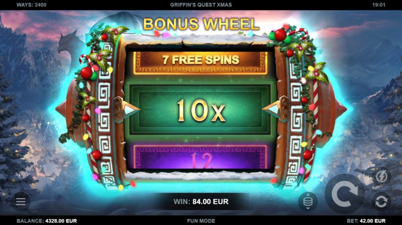 Griffin's Quest X-Mas Edition :: Spin the wheel for a chance to win big