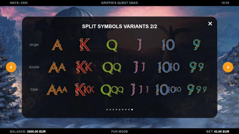 Griffin's Quest X-Mas Edition :: Split Symbols