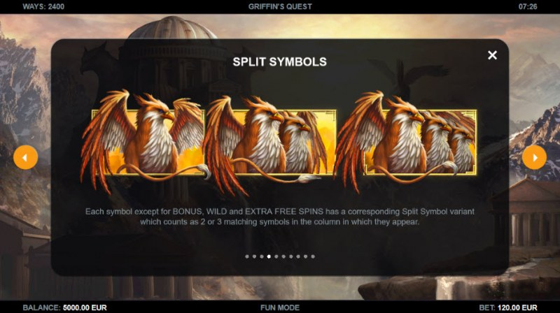 Griffin's Quest :: Split Symbols