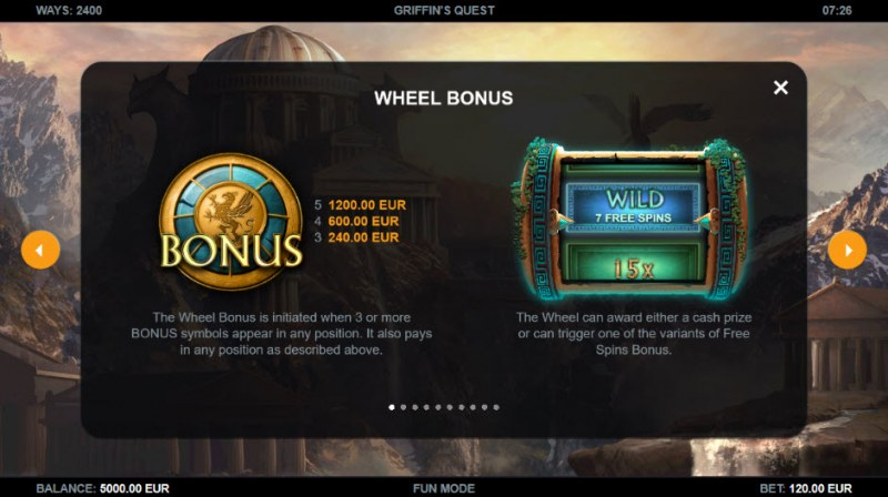 Griffin's Quest :: Wheel Bonus